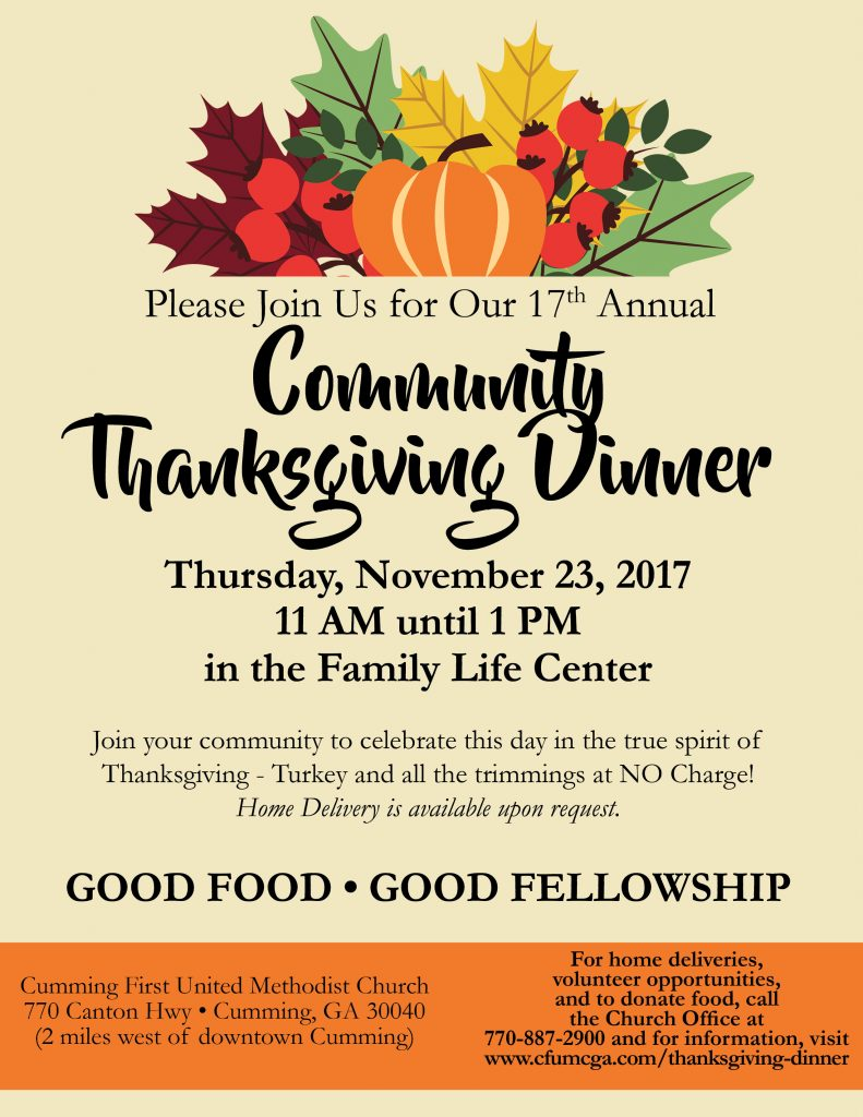 Thanksgiving Dinner Flyer_2017_EnglishONLY