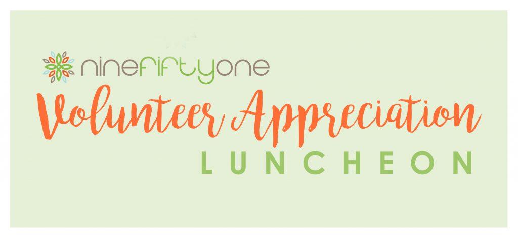Volunteer Apprecation Luncheon Logo